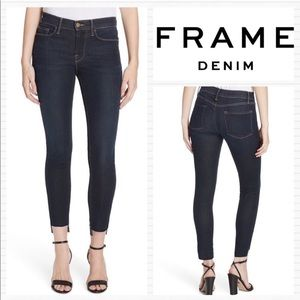 New FRAME DENIM Edgerton Raw Hem Skinny Jeans